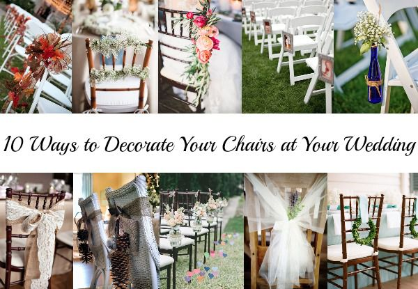 wedding decorations chairs receptions chair gym workout reviews 10 ways to decorate your at rustic chic