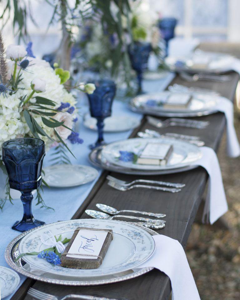 Country Blue Wedding Inspiration  Rustic Wedding Chic