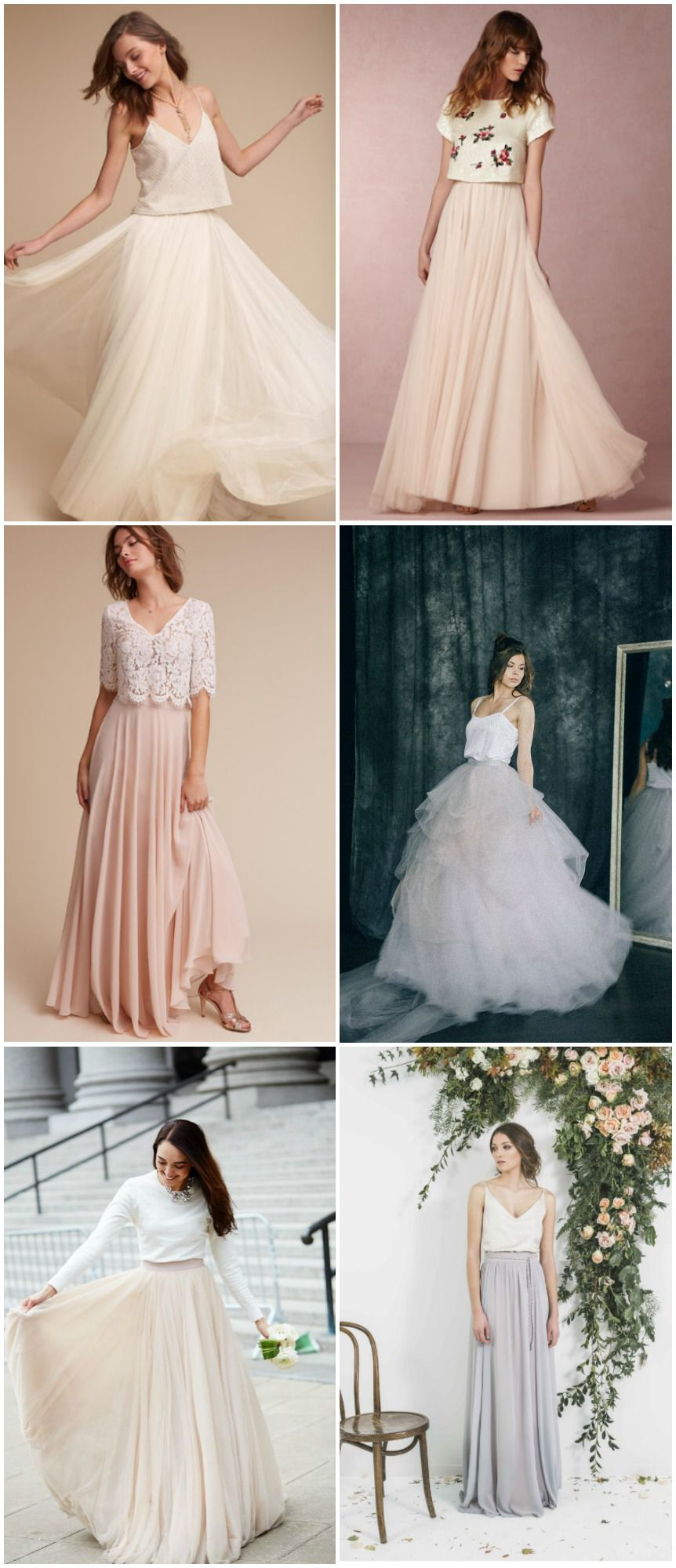 10 Of The Best Wedding Dress Skirts  Tops  Rustic