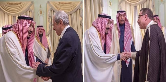 بالصور : خادم الحرمين يستقبل رئيس مجلس النواب ووزير الشؤون الدينية وعدداً من أئمة المساجد