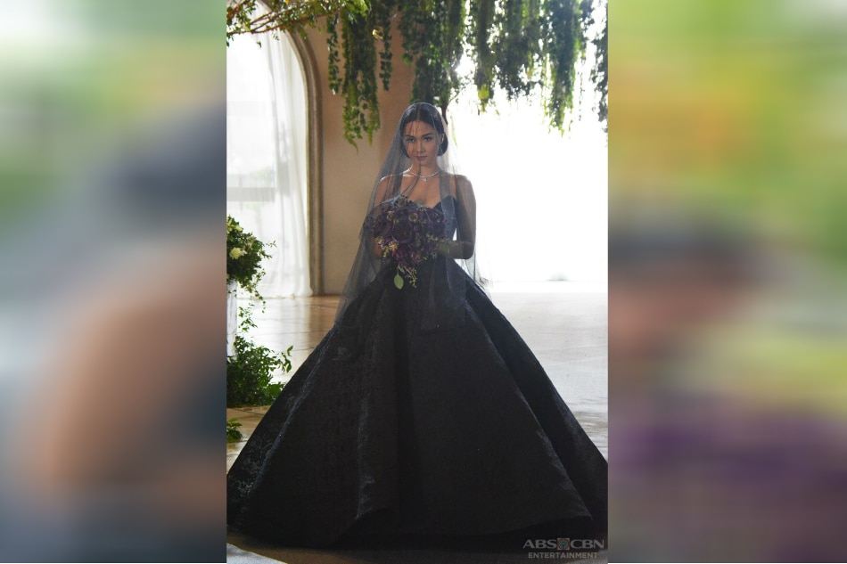 LOOK Maja Salvador stuns in black wedding gown  ABSCBN News