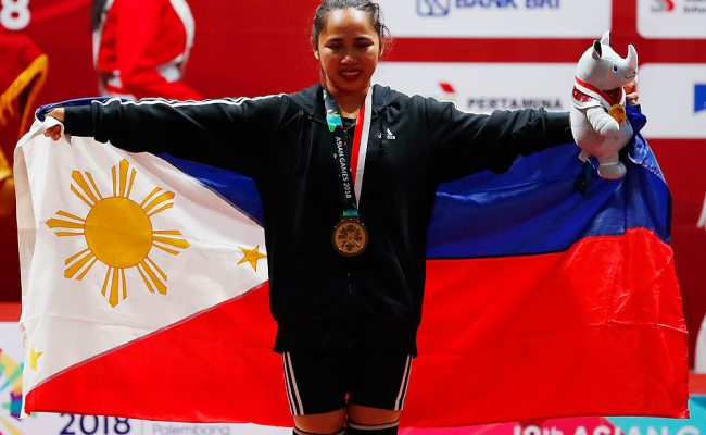 Asian Games Hidilyn Diaz Wins First Gold For Philippines