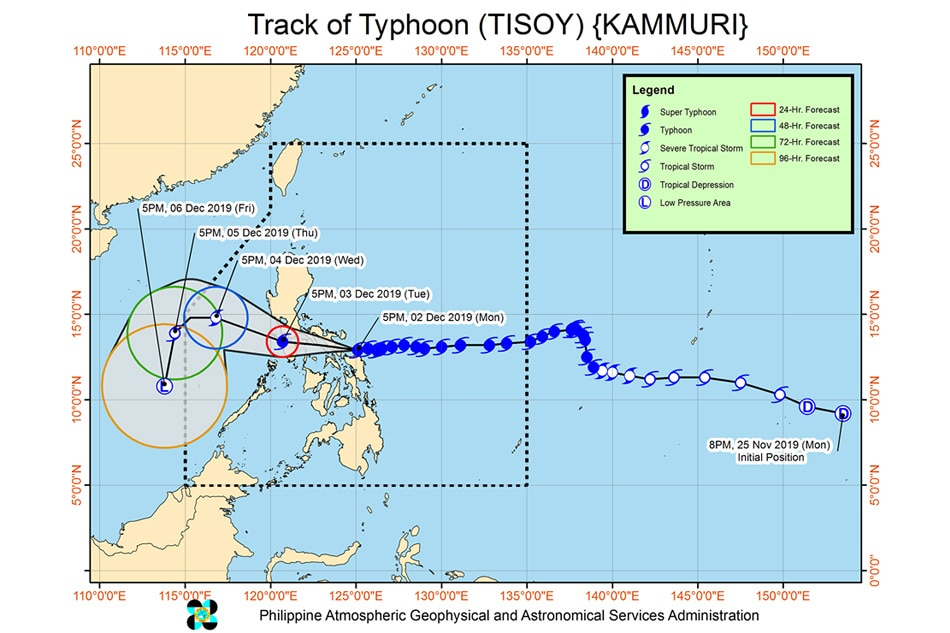 Typhoon Tisoy Intensifies Further Ahead Of Sorsogon