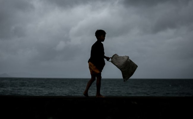Philippines Hunkers Down For Typhoon Tisoy As It Hosts Sea