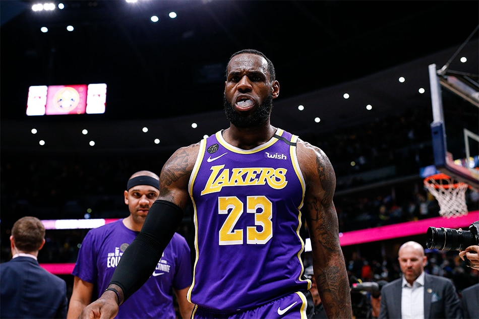 Nba Lebron S Triple Double Helps Lakers Edge Nuggets In