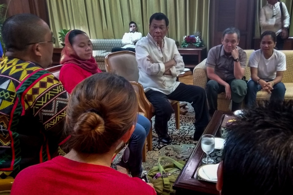 Image result for SONA 2016 duterte meets with militants