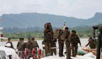 القوات في ميانمار تعلن وقف حملاتها العسكرية