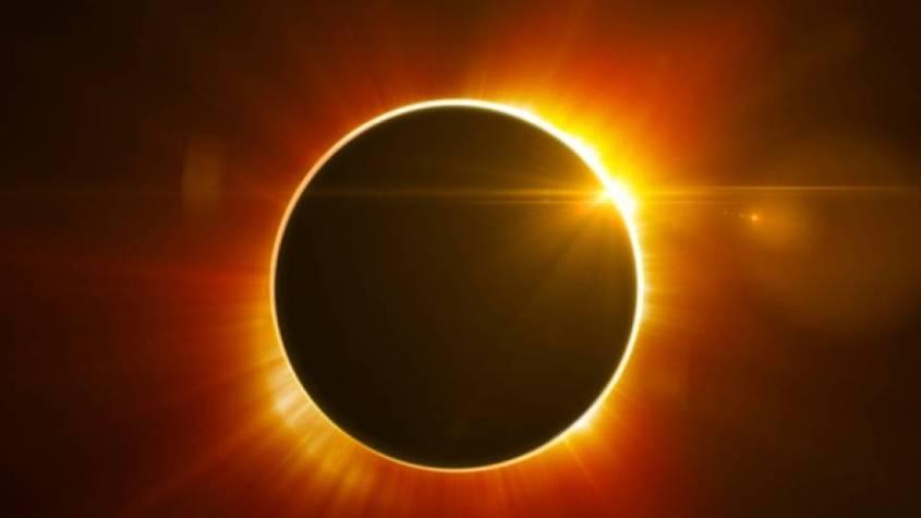 حدوث كسوف جزئي للشمس