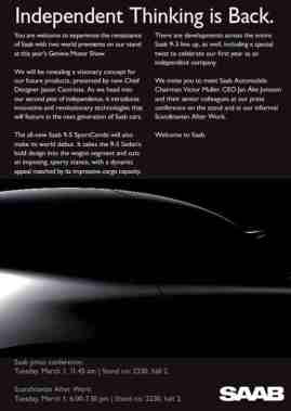 Auto Salon, Einladung nach Genf