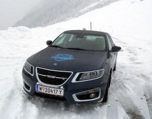 Saab 9-5 XWD in Mayrhofen