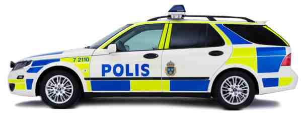 Saab 9-5 Polis Sportkombi, robust und übersichtlich.
