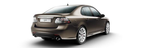 """Saab 9-3 Griffin, Oak metallic, Heck mit neuem """"Saab"""" Schriftzug auf Zierleiste"""