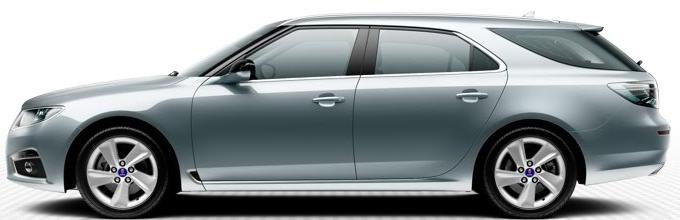 "Saab 9 5 SportCombi, 7,0 x 17 ""alloy wheels, 5 spoke design"" Blade ""(ALU100)"