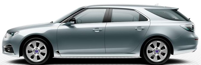 """Saab 9-5 SportSaab 9-5 SportCombi, 7,0 x 17""""-Leichtmetallräder, 7-Speichen-Design """"Core"""" (ALU101)"""