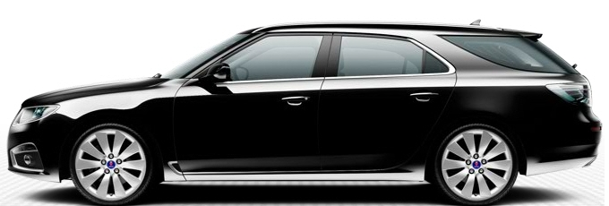 Saab 9-5 SportCombi, Black