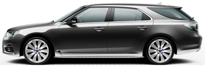 Saab 9-5 SportCombi, grigio carbone