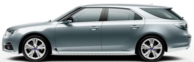 """Saab 9-5 SportCombi, 8,0 x 18""""-Leichtmetallräder, 5-Speichen-Design """"Carve"""" (ALU 102)"""