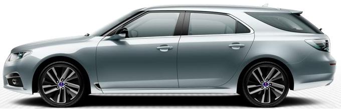"""Saab 9-5 SportCombi, 8,5 x 19""""-Leichtmetallräder, 10-Speichen-Design """"Edge"""" (ALU104)"""