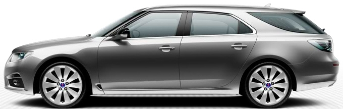 Saab 9-5 SportCombi, gris granit