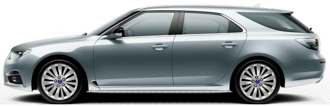 "Saab 9 5 SportCombi, 8,0 x 18 ""rodas de liga leve, raios 15 design"" Rotor ""(ALU103)"