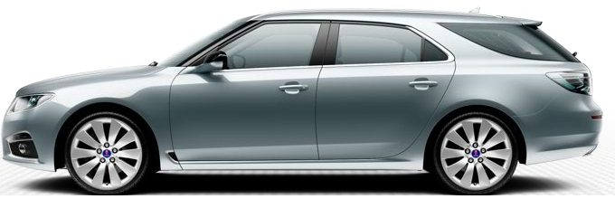 Ruedas de aleación 9 5 SportCombi, 8,5 x 19 de Saab 10, turbina 105 de diseño de radios (ALUXNUMX)