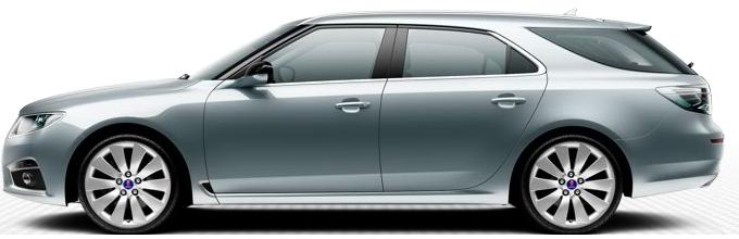 "Saab 9 5 SportCombi, 8,5 x 19 ""alloy wheels, 10 spoke design"" Turbine ""(ALU105)"