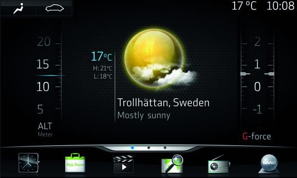 Saab IQon, basado en el sistema operativo Android de Google