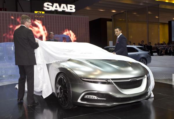 Saab Autosalon Genf, dea Saab Concept Car wird enthüllt.