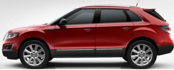Saab 9-4x Cristal Vermelho Metálico