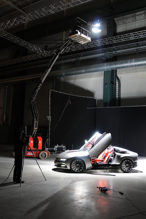 Saab Phoenix Concept - Fotoshooting in Trollhättan