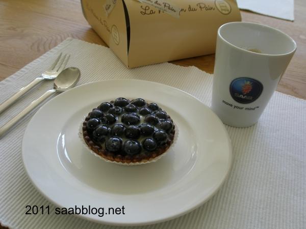 Zweedse bosbessen taart en koffie