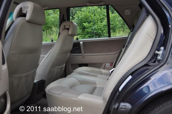 Saab 9000 CSE Fond, Platz ohne Ende