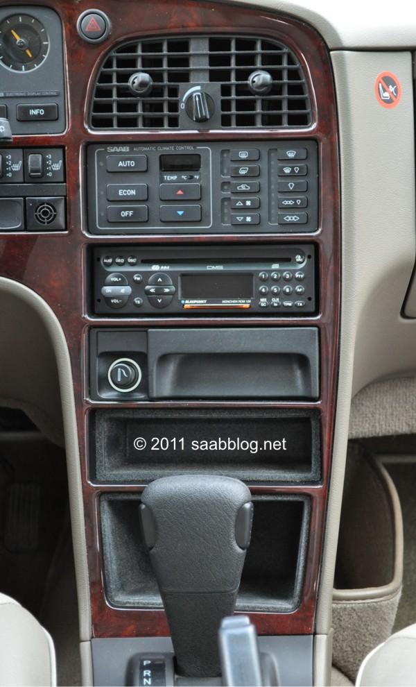 Saab 9000 CSE Mittelkonsole, Klimautomatik, ZF-4 Gang Automatik