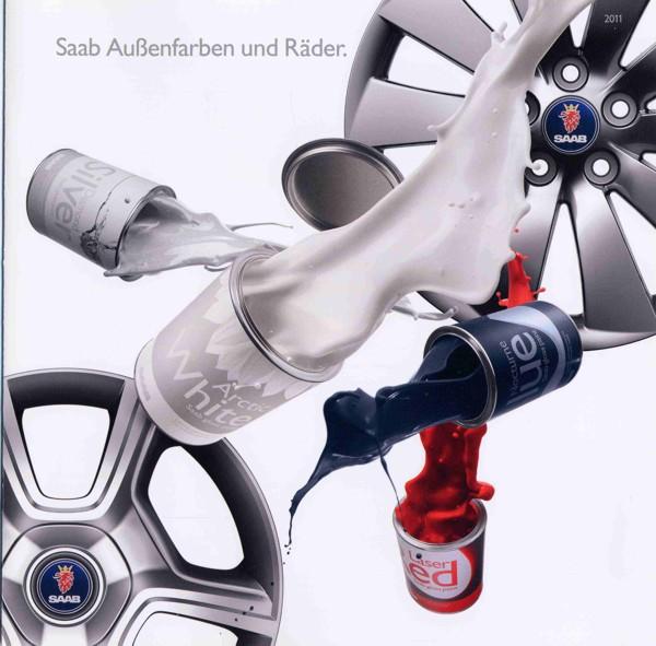 Saab Außenfarben und Felgen 2011