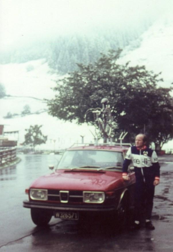 Saab Fan Jost med Saab 99