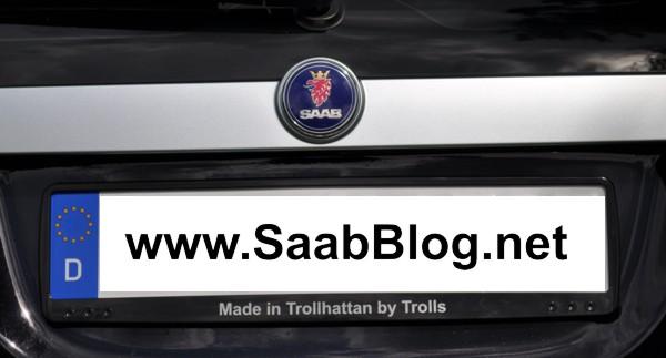 Saab 9-3 1.8t, o suporte de placa de licença correto