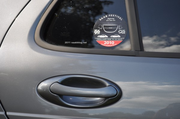 Saab 9-5 2.3t Vector Biopower, detalhe: alça de porta