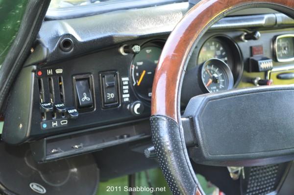 Saab 96 GL, strumenti
