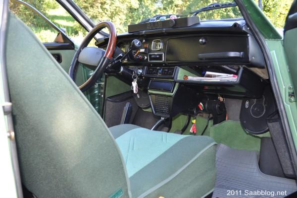 Saab 96 GL Innenraum, liebevoll eingerichtet