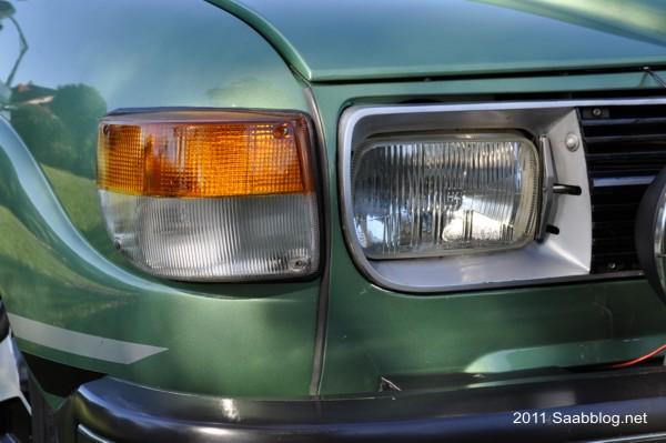Saab 96 GL, invenção Saab: limpeza de faróis