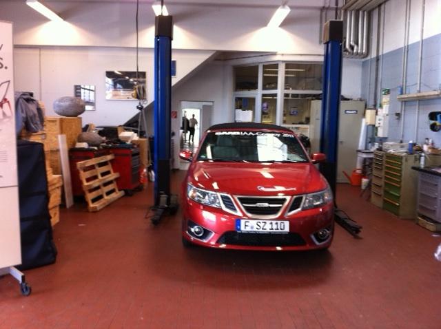 """""""Spyshot"""" Saab Cabriolet für den IAA Convoy 2011"""