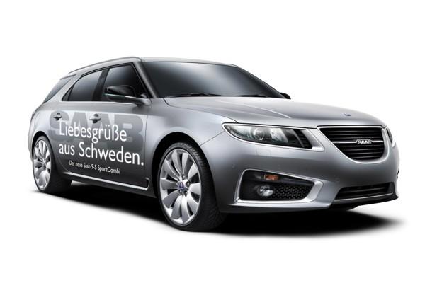 """Vinnaren: Förslag från Wolfgang Saab 9-5 """"Hälsningar från Sverige"""""""