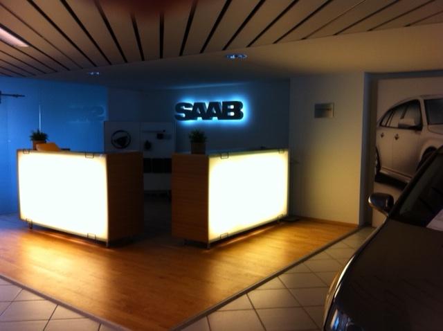 Lensch & Bleck, Blick in das Saab Stockwerk