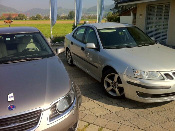 Saab 9-5, Saab 9-3 und das Saab iPhone4 von Rafael