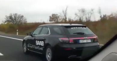 Saab 9-5 NG SC on the way on German highway