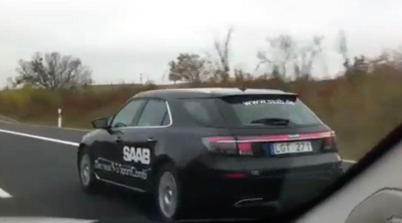 Saab 9-5 NG SC a caminho da estrada alemã