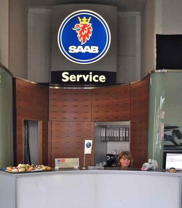Saab Service Zielke, a smile for the Saab customers ..