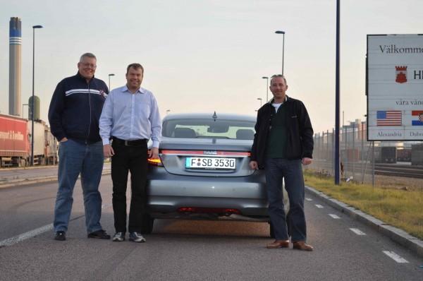 Equipe Saab: Henrik Claesson, Mike Helfer, Jan-Philipp Schuhmacher