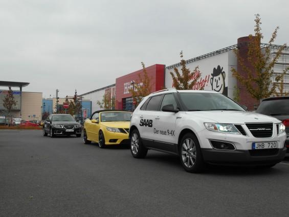 Capturados: Saab 9-4x e Saab 9-5 esportes em Dresden