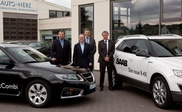El equipo de Saab Centre Trier y Saab Alemania